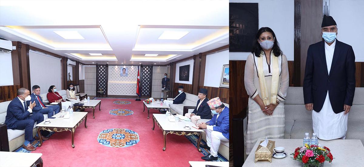 प्रधानमन्त्री देउवा र एमसीसी उपाध्यक्ष सुमारबीच भेटवार्ता