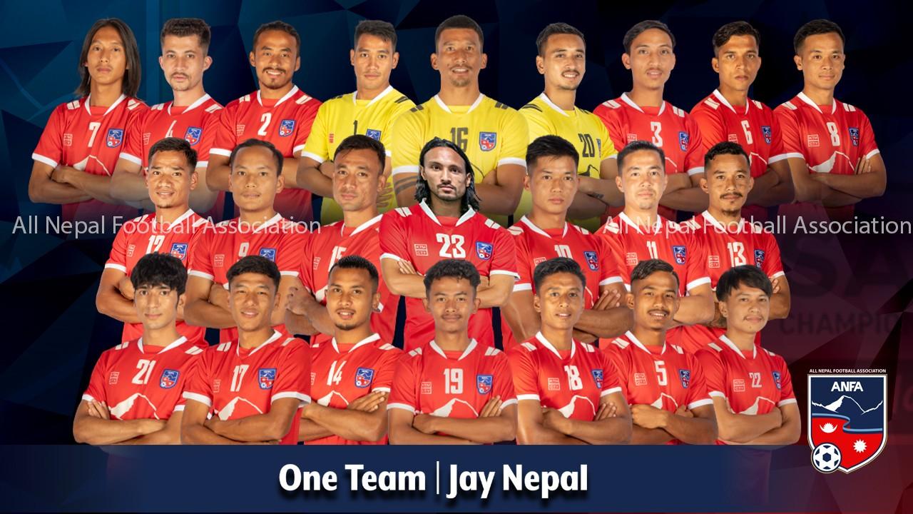 साफ च्याम्पियनसिपको लागि नेपाली राष्ट्रिय टिमको घोषणा