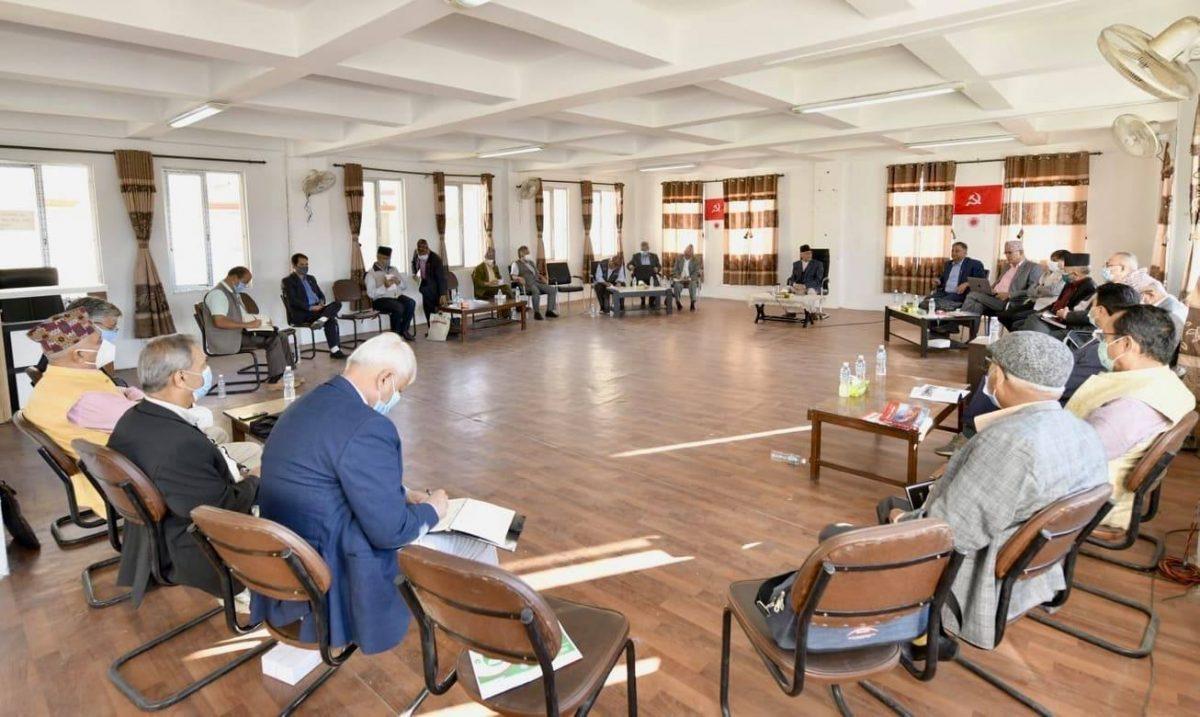 एमाले स्थायी समिति बैठक आज पनि, '१० बुँदे'माथि रावलले सुझाव पेश गर्ने