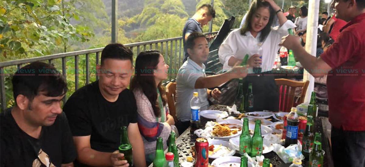 चीनमा दशैं वनभोज