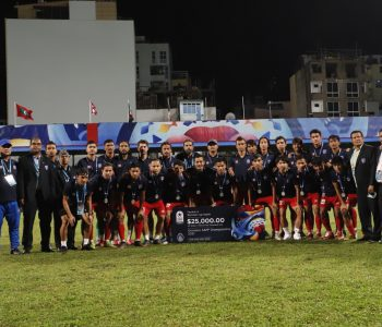 साफमा उपविजेता बनेको नेपाली टोली स्वदेश फिर्ता